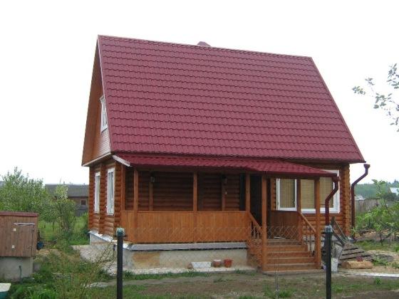 Дачный домик из бревна